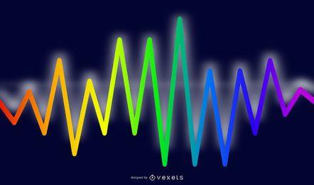 Fundo de efeito de luz de espectro de néon abstrato embaçado