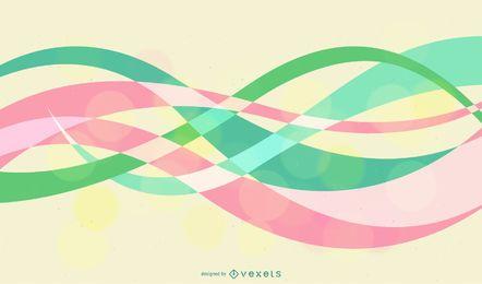 Fondo abstracto con verde azul rosa