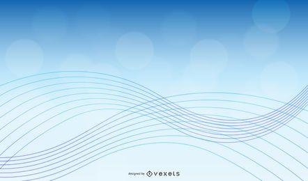 Vektor-abstrakter Hintergrund mit blauer Welle