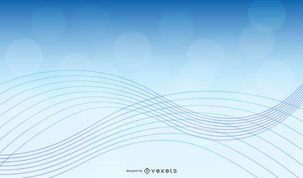 Vetor abstrato com onda azul