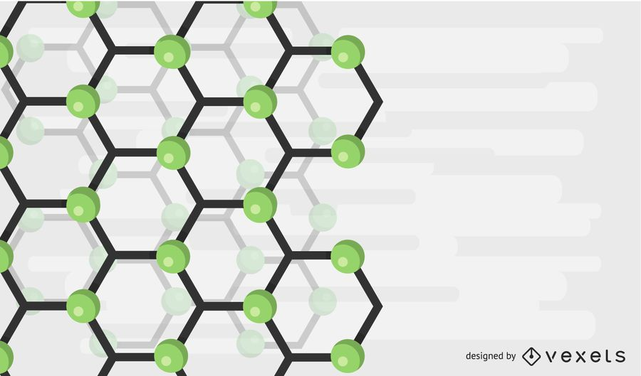 Abstract Green Molecule Background Vector Illustration