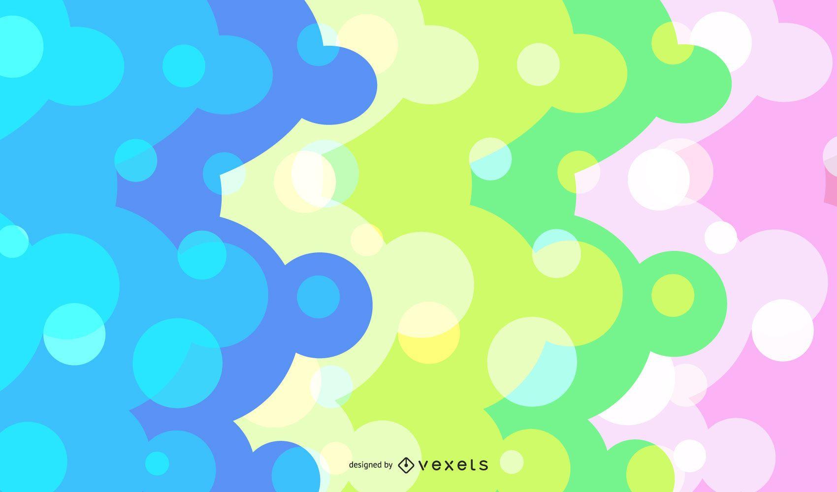 Resumen de puntos coloridos Backgrond gráfico vectorial