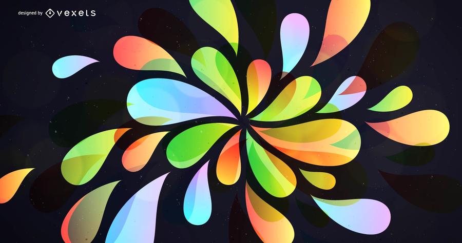 Fundo criativo colorido abstrato
