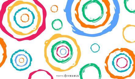 Abstratos, coloridos, círculos, vetorial, fundo