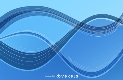 Abstract Wave Lines Vector Art