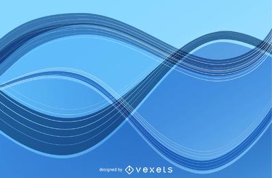 Linhas de onda abstrata arte vetorial