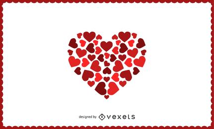 Fundo abstrato do coração do amor