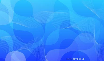 Abstract Blue Background Vector Graphic 2