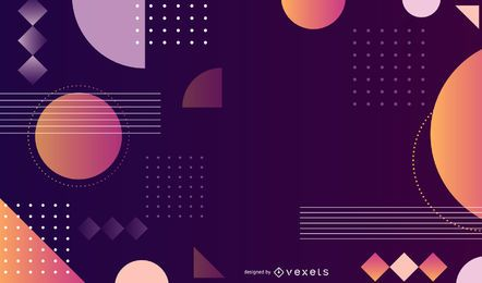 Abstract Colorful Background Vector Art Graphic