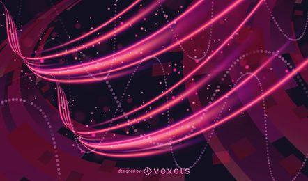 Resumen futurista brillante luz curvas fondo ilustración vectorial