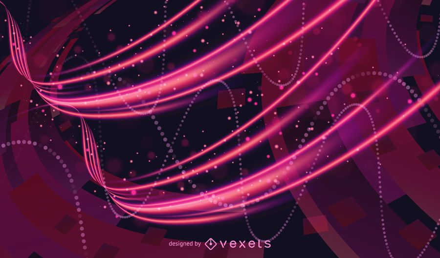 Futuristic Abstract Glowing Light Curves Background Vector Illustration
