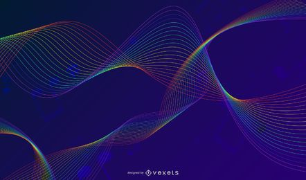 Ilustração em vetor abstrato colorido música fundo