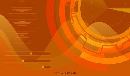 Fundo futurista em laranja