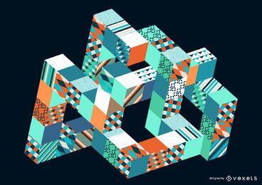 Abstracto moderno diseño colorido Vector Graphic