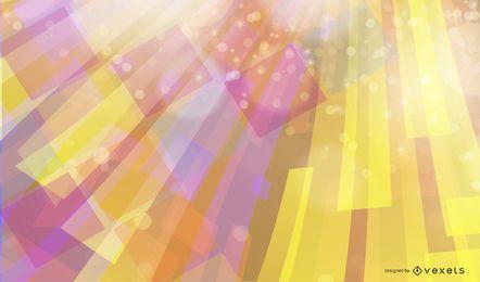 Fundo de cor abstrata com quadrados e glitter
