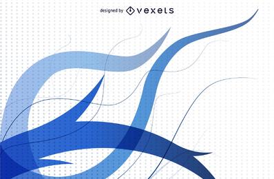 Resumen de fondo azul gráfico vectorial 3