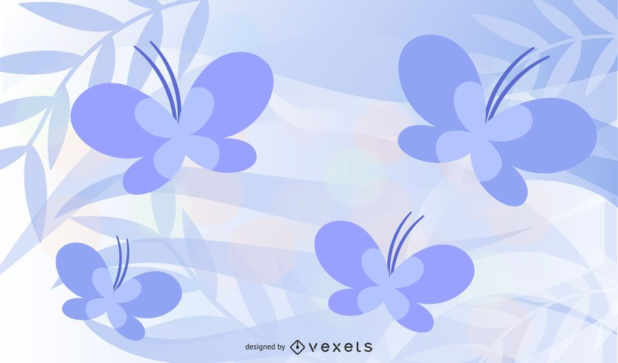 Abstract Wave with Butterfly Background