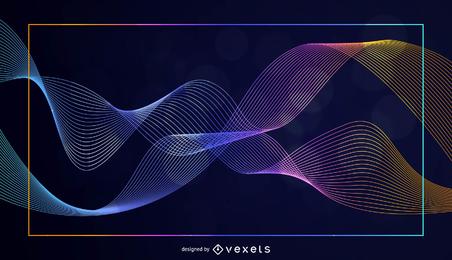 Ilustração em vetor abstrato colorido curva