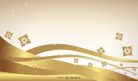 Abstrakte Blumen-Design-Vektor-Grafik