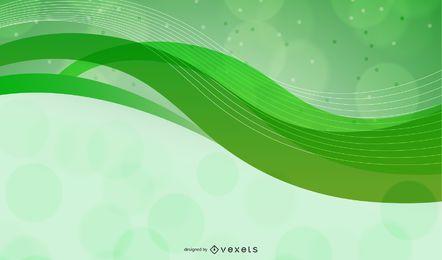 Resumen verde curvas fondo vector gráfico