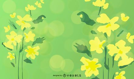 Ilustração abstrata Floral vetor verde