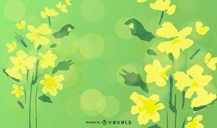 Ilustración de vector floral verde abstracto