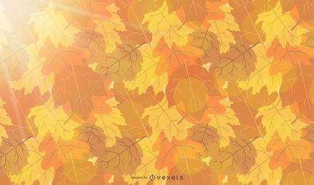 Abstract Autumn Sunshine Vector Background
