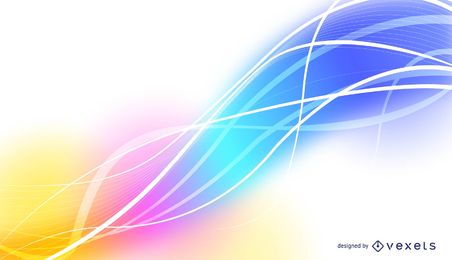 Abstract Vector Background with waves, lines and colors