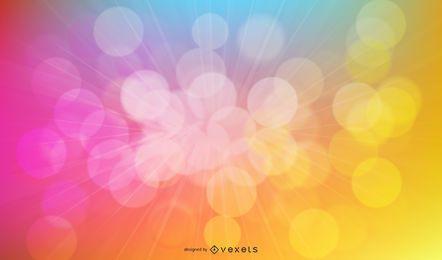 Resumo de explosão de luzes de fundo gráfico de vetor