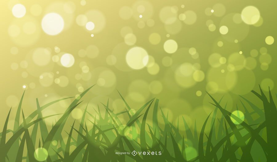 Abstract Green Bokeh Background Vector Graphic