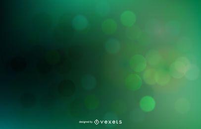 Vetor de luz de fundo abstrato verde Bokeh