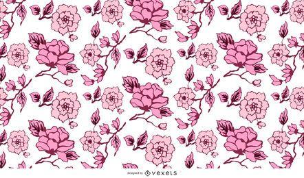Resumen patrón floral fondo 02 vector