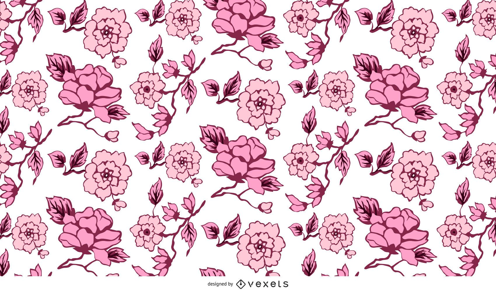 Abstract Floral Pattern Background 02 Vector Vector Download