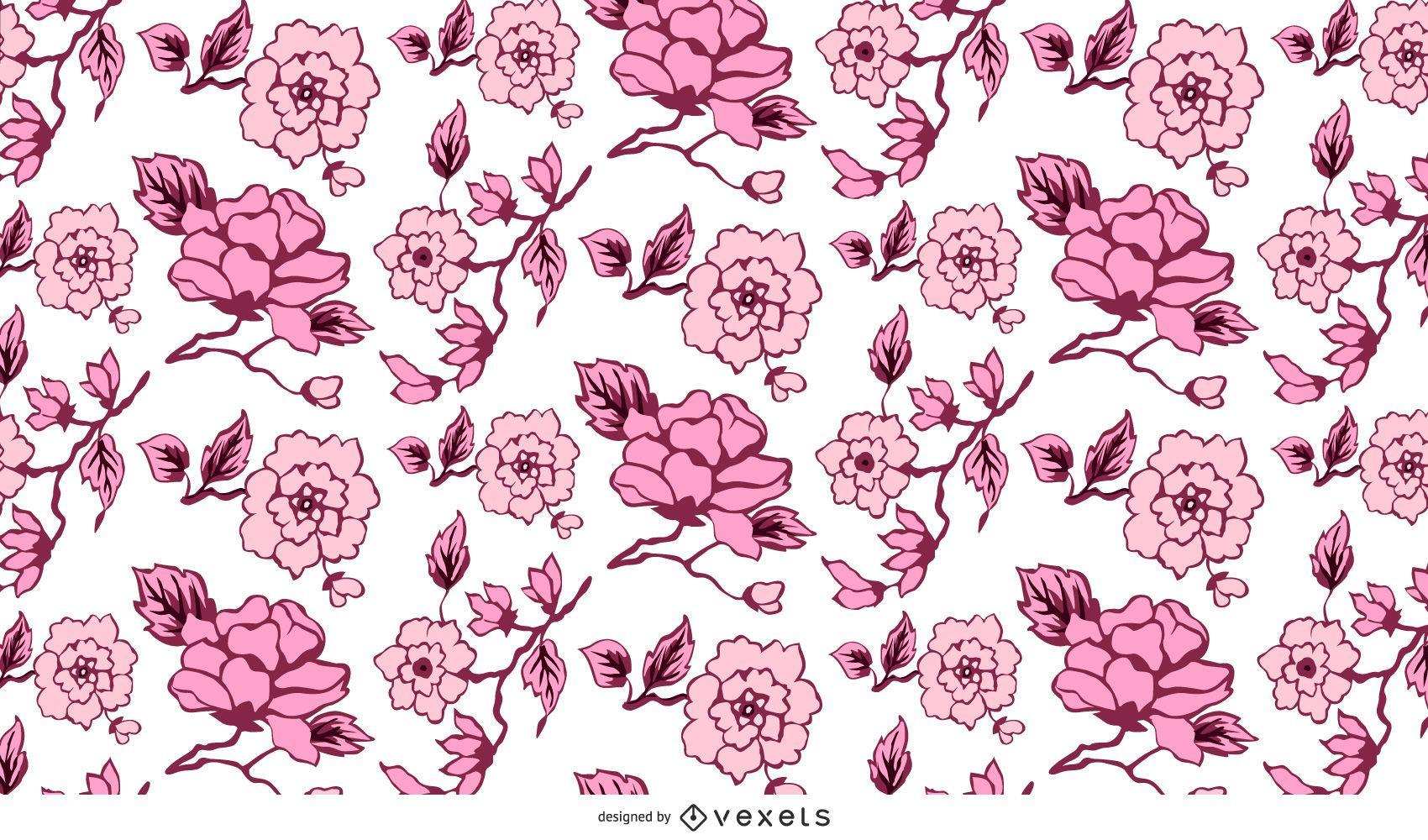 vetor de fundo 02 padrão floral abstrato