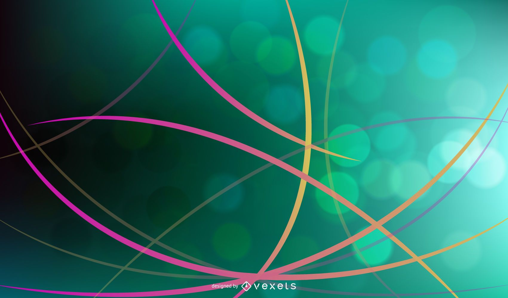 Abstract Colorful Wave Line Background