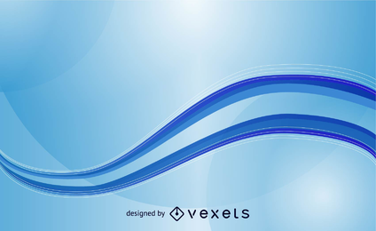 Abstract Blue Waves Vector Template Background