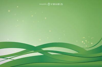 Fondo verde abstracto diseño ilustración vectorial