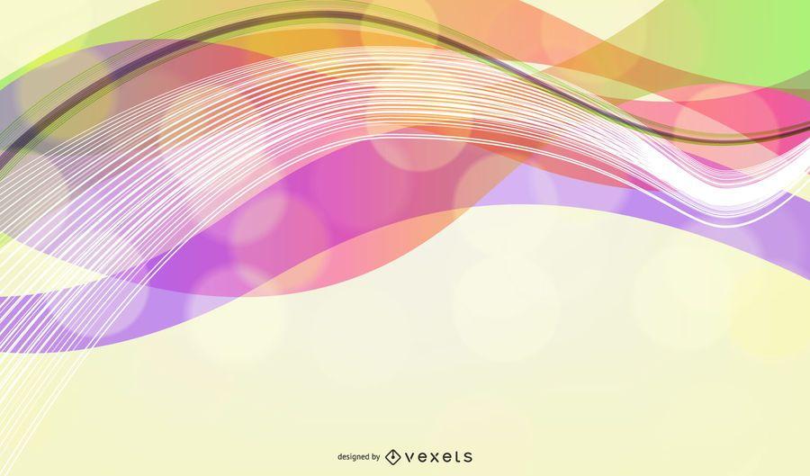 Vector Design de onda abstrata colorido fundo