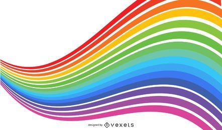 Colores del arco iris resumen fondo gráfico vectorial