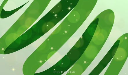 Abstract Green Waves Vector Background