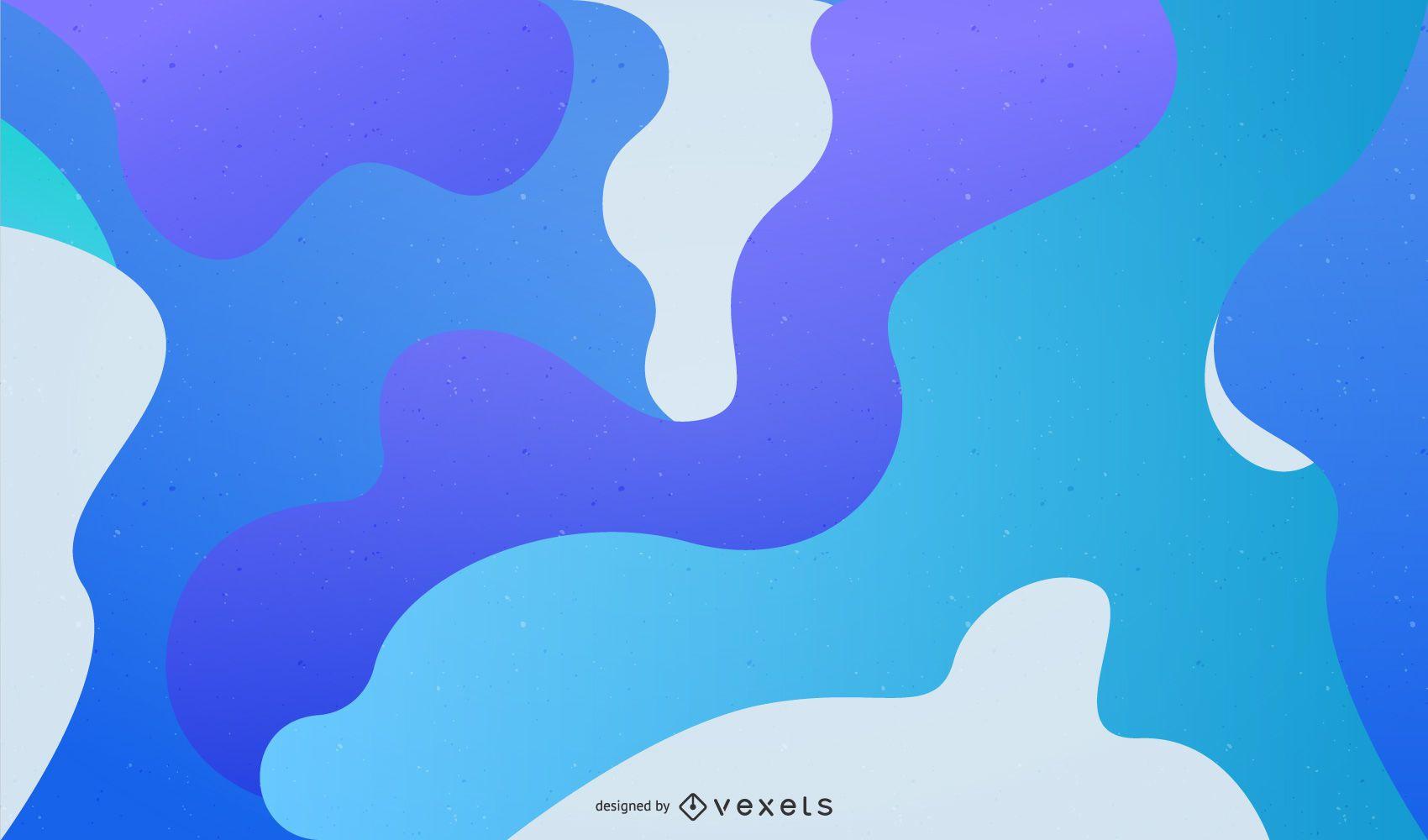 Gráfico de fundo azul de vetor abstrato