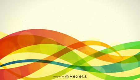 Ilustração em vetor abstrato colorido onda