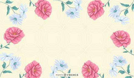 vector de fondo de patrón floral abstracto