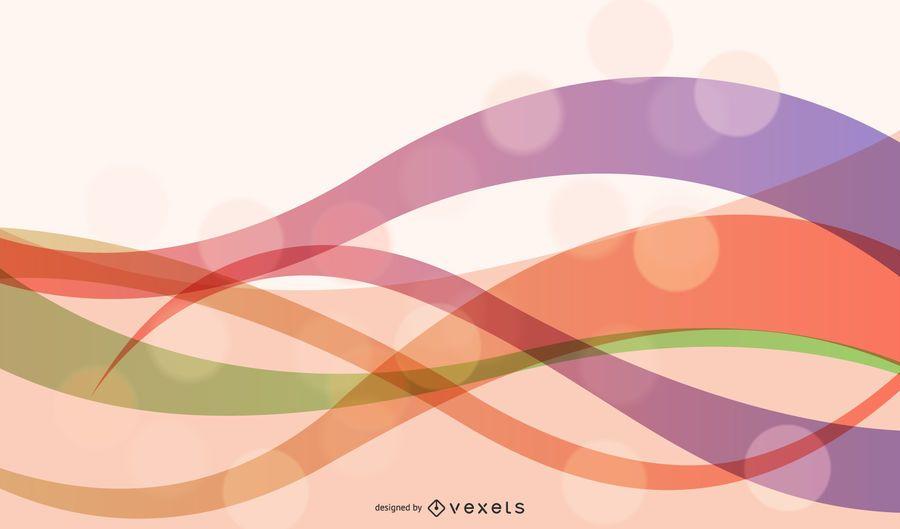 Arte de fundo abstrato onda Design Vector