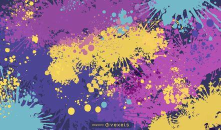 Tinta abstrata escova espirra de fundo Vector