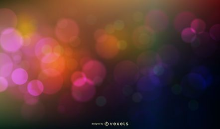 Bokeh Circles Background Vector Graphic