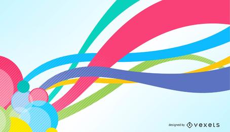Fundo de gráfico de vetor abstrato Design