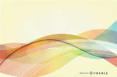 Fondo de vector de onda de color abstracto