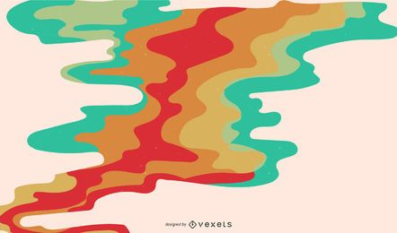 Abstract Colorful Vector Smoke Background