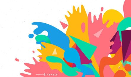 Colorful Abstract Splash Vector Design